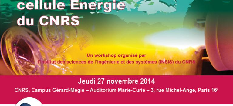 2014 – Workshop de la cellule Energie du CNRS